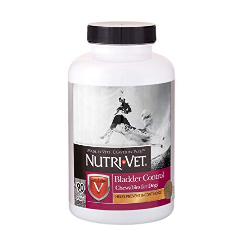 Nutri-Vet Bladder Control Supplement for Dogs | Reduce Dog Urinary Incontinence | 90 Chewable Tablets