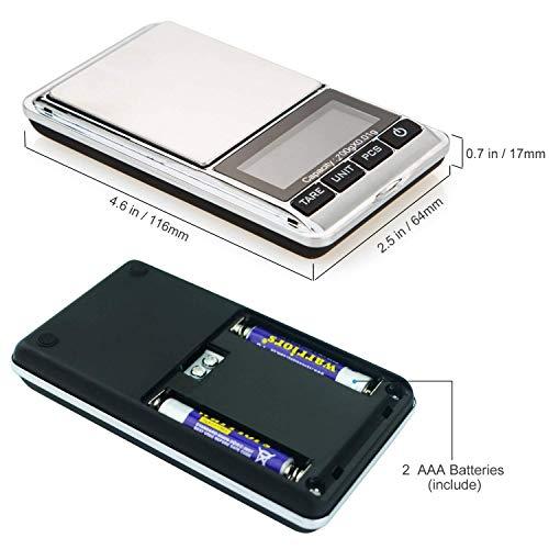 『最新版 携帯タイプ ポケットデジタル スケール 0.01g-200g精密 業務用(プロ用) デジタルスケール 電子天秤[1ヶ月の保証]』の4枚目の画像