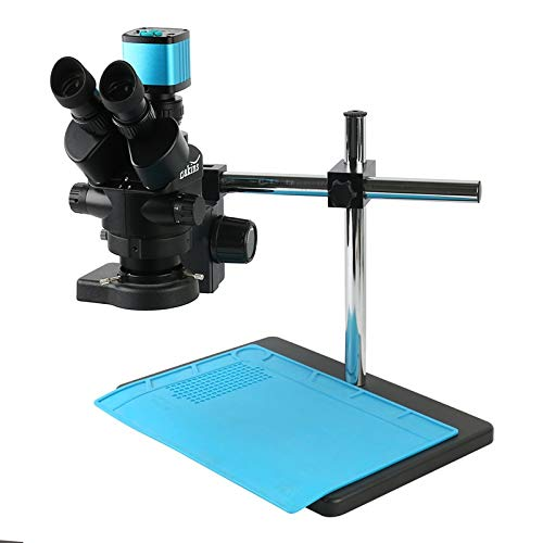 HONYGE L-Ying Microscopes, 3.5X 90X Simul-Focal Trinocular Stereo Microscope 1080P 48MP 38MP 26MP 20MP 16MP HDMI USB Industrial Video Microscope Camera (Color : C)