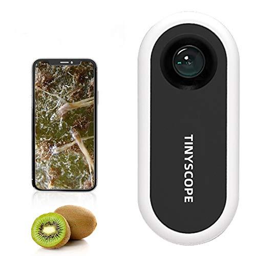 Aubess Handy-Mikroskop im Taschenformat, 20 bis 400 x Vergrößerung, keine Batterie und Stromversorgung erforderlich, tragbare Mikrowelt für Kinder und Erwachsene, Android iOS Universal