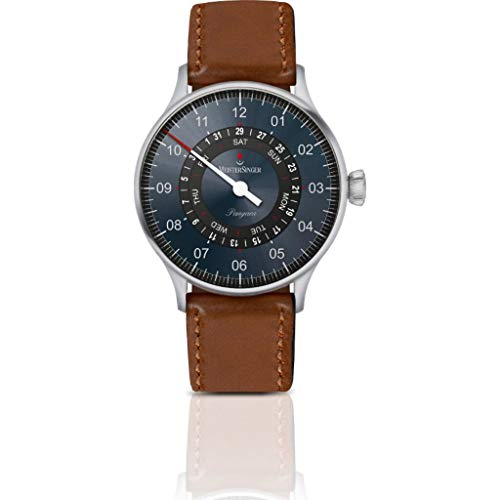 MeisterSinger Pangaea Day Date Automatic Wrist Watch | Steel/Blue/Black