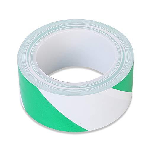 Warnband Grün weiß -Wasserdicht Selbstklebendes Klebeband Gefahr Warnung Absperrband Markierungs Warnklebeband fur Treppen Schritte 48mm x 33m