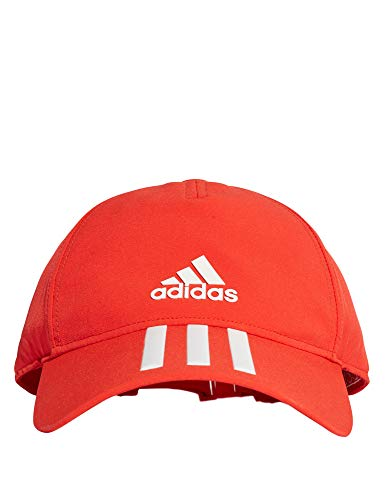 adidas Damen 6-Panel 3-Stripes Climalite Baseball-Cap, Active Red/White, FR Unique (Taille Fabricant : OSFW)