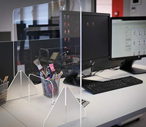 Mampara de protección en metacrilato para oficinas, mostradores y restaurantes (640x480x5mm)