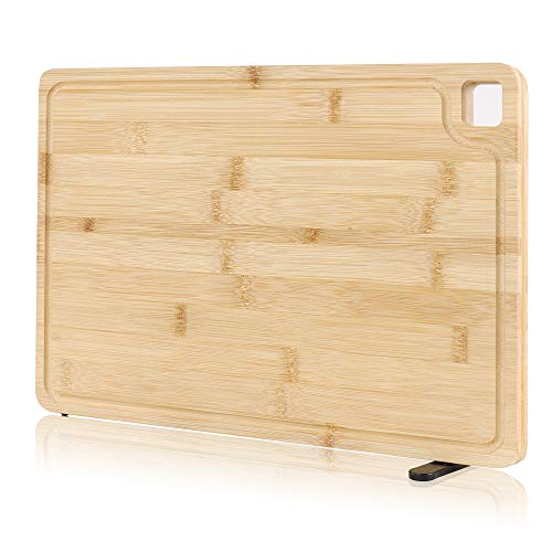 Bamboo Cutting Board-BEBLEPANY Kitchen Butcher Block Chopping Board with Juice Groove,Wooden Carving Board for Meat Vegetables Fruits Cheese