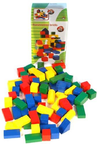 Marionnette Wooden Toys - 44027 - Jeu de Construction - Eléments de Construction Bois x75