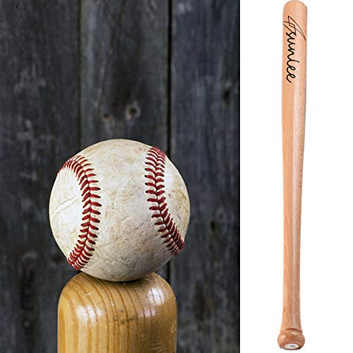 25'' Wooden Baseball Bat Self Defense Wood Youth Tball Bats for Practice or Home Defense