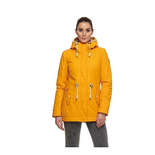 Ragwear Damen Winter-Regenjacke Monadis Rainy gelb - M