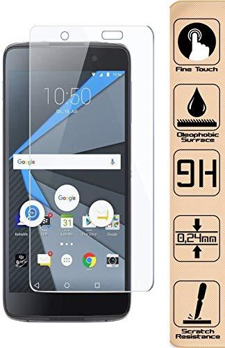 D.R.Company 9H – HD 2,5D Schutzglasfolie Handy Folie Full Cover Für Original BlackBerry DTEK60 0,4mm Ultra Dünn