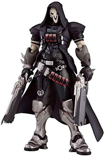 YIGEYI Overwatch Figurine: Reaper / Gabriel Reyes Anime Figura de acción 6,7 Pulgadas Figuras de PVC Modelo Coleccionable Estatua de Personaje Juguetes Estatuilla Pop
