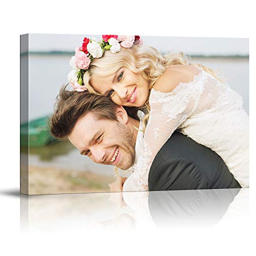 SIGNFORD Custom Canvas Prints, Marriage Photos Personalized Poster Wall Art with Your Photos Wood Frame Digitally Printed - 11' x 14'