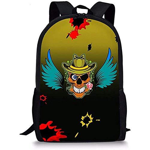 Cool schedel patroon kind school boekentas reizen rugzakken voor jongens schedel ontwerp-9