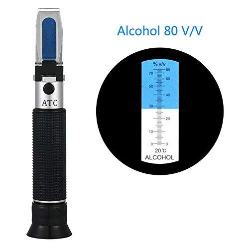 WYJW Handgehaltenes Alkoholtester-Refraktometer 0~80% Alkoholtester Inhalt Messwerkzeug Tester