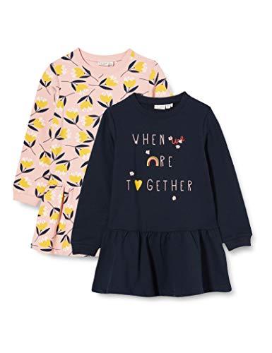 NAME IT Mädchen NMFVOLTA 2P LS SWE Tunic UNB L Sweatshirt, Coral Blush, 98