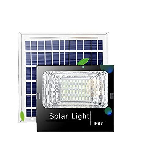 WKZ Luces Solares Led Exterior Jardin,220W 250W,ip66 A Prueba De Agua,Foco Proyector Solar Exterior ,Luz De Inundación Solares,Luz del Sensor Solar,[Clase Energética A +++](Size:250W,Color:Destacar)