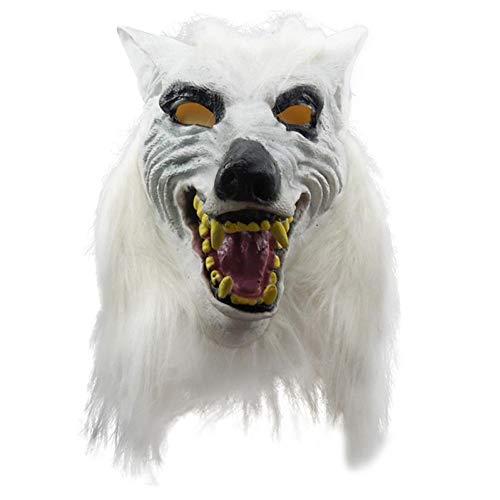 AAWFUL Máscara De Cabeza De Lobo De Halloween Máscara