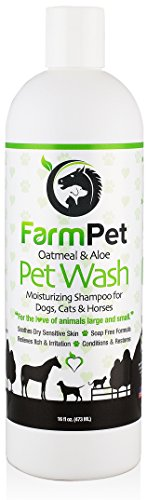 FarmPet Oatmeal Dog Shampoo with Aloe Vera - Best for Dogs, Cats, and...