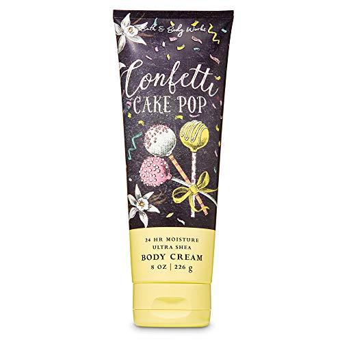Bath & Body Works Confetti Cake Pop 24 Hour Moisture Ultra Shea Body Cream with Aloe, Cocoa and Shea Butter 8 oz / 226 g