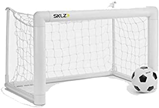 Sklz Soccer Pro Mini Goal Compact Soccer Goal And Foam Ball 26 x 15 3/4 x 16 In, White, Multi Color