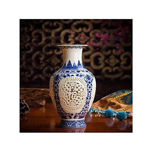 Lou Chapman Antik Kunsthandwerk Keramik-Vase Chinese durchbohrt Hohl Vase Hochzeit Geschenke Hauptlieferungs-Dekoration Craft Artikel 11