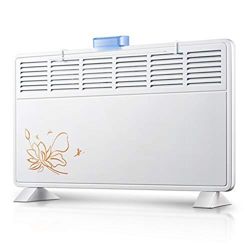 Electric Stove Heater Convecteur Chauffage - Radiateur de Salle de Bain Silencieux, à économie d'énergie, pour Montage à la Maison ou au Bureau (1000w / 2000w)