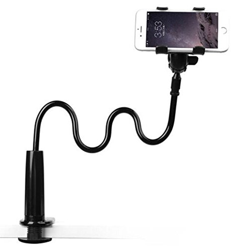 Supporto per Telefono Cellulare Enllonish Supporto Telefono Universale Porta Cellulare Clip, Staffa Pigro Flessibile Braccia Lunghe a 360 gradi di rotazione supporto per iPhone Samsung(Black)