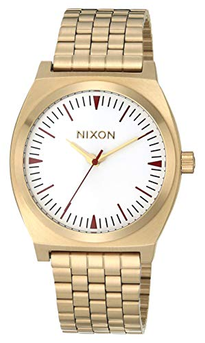 Nixon Time Teller Gold/Red/Saddle One Size