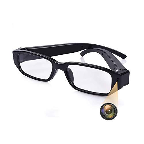 Monkaim Brille mit versteckter Kamera, 1080P, tragbar, Videorekorder, Videorekorder, Foto- und Audio-Aufnahmen für Innen und Außen