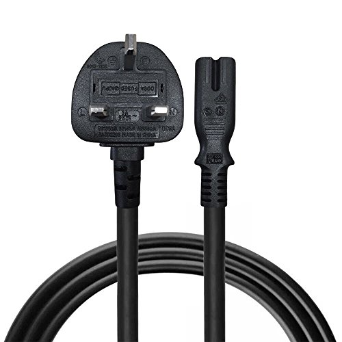 5M UK AC Power Supply Cord Cable For Zvox Soundbase 550,670,770,870...