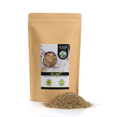 Anice intero (250g), semi di anice, 100% naturale, tè all'anice ovviamente senza additivi, vegano