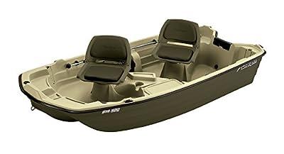 BT102DG Sun Dolphin Pro Fishing Boat (Cream/Brown, 10.2-Feet) from KL Industries