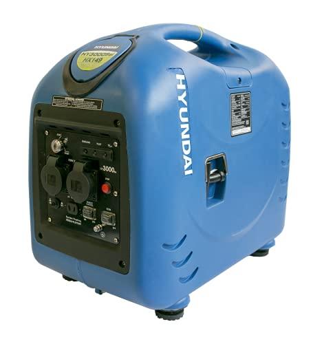 Hyundai HY-HY3000SEI Generador Gasolina Inverter, 2800 W, 230 V, Azul, Mediano
