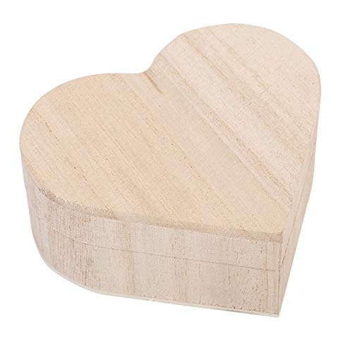 Rosilesi 1 * boîte en Bois en Forme de Coeur - Nouvelle Belle boîte de Rangement de Bijoux en Forme de Coeur en Bois Emballage étui de Transport décoration Artisanale Chaud