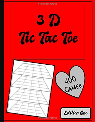 3D Tic Tac Toe: 3D Tic Tac Toe Activity Book ideal way to pass time while travelling with kids or recovering in Hospital. Over 400 puzzles to complete using pen or pencil.