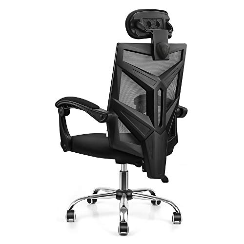 VANSPACE DC03 Ergonomic Mesh Office Chair, High Back Computer Chair Desk Chair Home Mesh Chair with Thick Cushion, Soft Adjustable Headrest and Armrests - Black black chair gaming