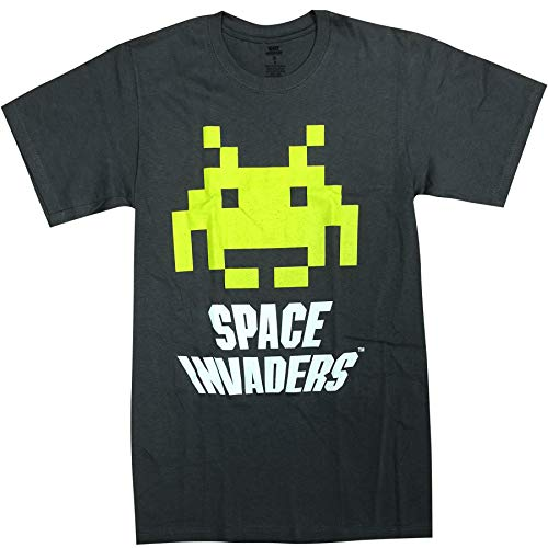 II Space Invaders Digital Invader Classic Retro Gaming Adult T-Shirt Gray,Camisetas y Tops(X-Large)