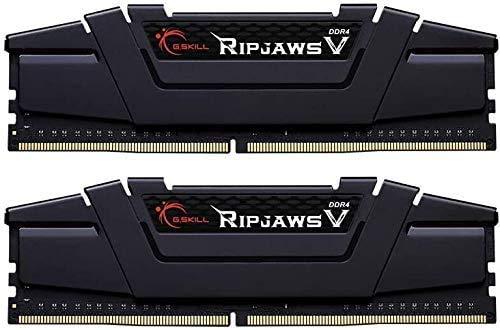 G.Skill RipJaws V Series 32 GB (2 x 16 GB) 288 pines SDRAM DDR4 4000 (PC4-32000) CL18-22-22-42 1.40 V Dual Channel Desktop Memory Model F4-4000C18D-32GVK