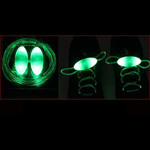 Kuyg - 1 par de cordones luminosos LED para juguetes luminosos en la oscuridad verde Talla única