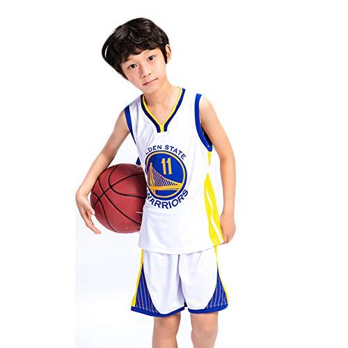 FILWS Basketball Trikot Klay Thompson Kinder Basketball Uniform Set Kinderspiel Training Aussehen Trikot