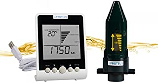 Heating Oil Tank Gauge - Proteus EcoMeter: Ultrasonic Wireless Level Sensor for Fuel and Oil Tanks and Cisterns with Radio Transmission and separate digital Display