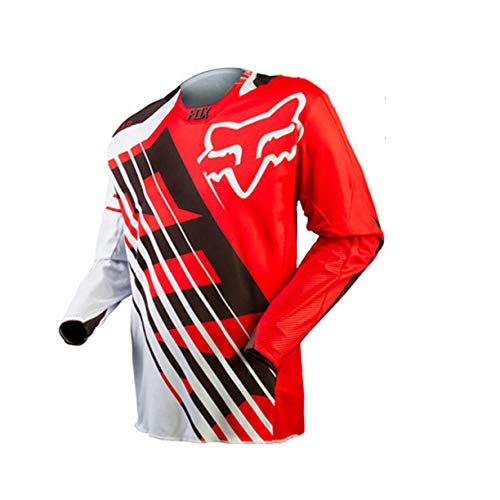FMBK666 Camisetas de Ciclismo Transpirables para Hombre, Camisetas Ligeras de Manga Larga para Exteriores, Camisetas Deportivas para Montar en MTB, para Correr, Senderismo