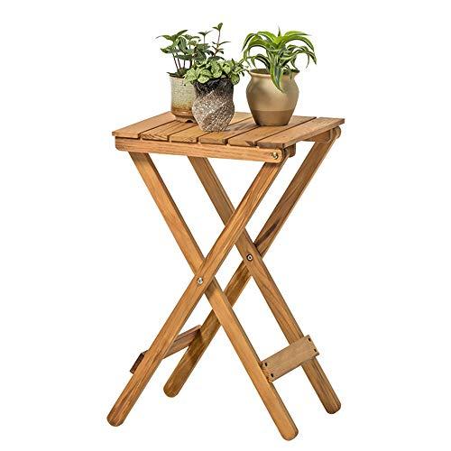 XIN Jardin Simple Solide Bois Fleur Stand Salon Balcon Paresseux Table Basse Table Basse Extérieure Petite Table