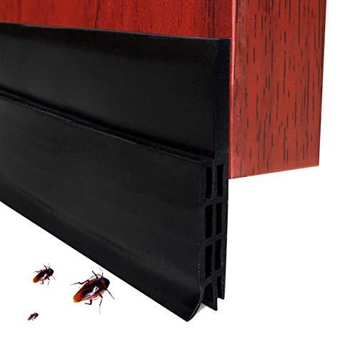EXTSUD Selbstklebende Tür Türdichtung Dichtungsstreifen Zugluftstopper gegen Insekt Ersatzdichtung Wetterfest Blocker Schalldichtung Silikon Türstopper 200 * 5cm (2M Schwarz)