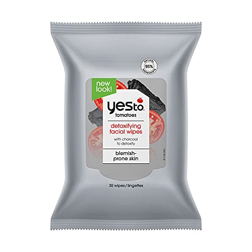 Yes To, Tomatoes Detoxifying Wipes Removes Makeup Removes Impuritues Deep Cleans, 30 Wipes Quad Pack