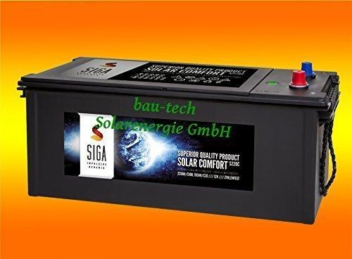 bau-tech Solarenergie 220Ah 12Volt Calcium Solar Batterie Akku Wohnmobil Boot Versorgungsbatterie GmbH