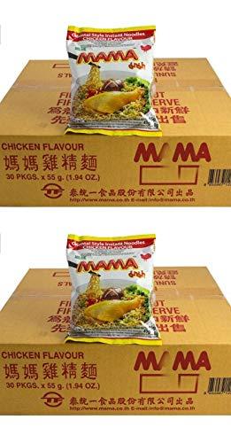 Pamai Pai® Doppelpack: 2 Kartons Mama Huhn Instant Nudelsuppen 60 x 55g Yum Yum Chicken