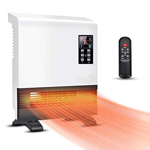 Electric Heater - 1500W Space Heater, Wall Mounted Room Heater with Standing Base, Energy Saving, Timer, 3 Modes, Quick Heat Electric Space Heater, Wall Heater for Basement, Bedroom, Bathroom, Office, Garage Heater