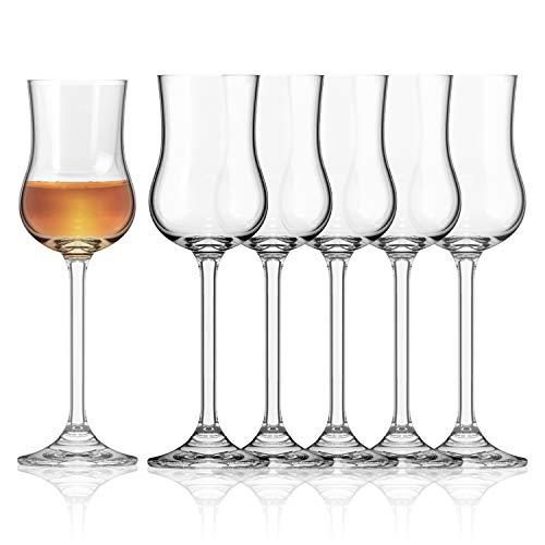 Bicchieri Grappa 85ml | Set Bicchieri da Grappa 6 unità | Bicchieri Limoncello e Bicchieri liquore 6 pz | Bicchieri Eleganti | Bicchierini liquore