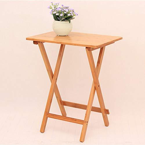 ZXQZ zhuozi Table Pliante Table Portable Table extérieure pour Ordinateur Portable en Bois Taille en Option Bureau Pliant (Taille : 50 * 36.5 * 62cm)