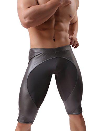 BRAVE PERSON New Men's Fashion Sports Shorts Sexy Leggings Pants Beach Trunks B2242 (S / 26'-29'', Gray)